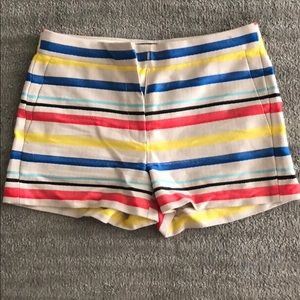 JCREW - multi colored stripped shorts